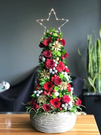 Fresh Flower Masterpiece Christmas Tree Arrangement