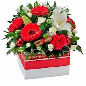 Christmas Box Arrangement 1